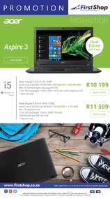 First Shop : Acer Promotion (13 Dec - 20 Dec 2018)