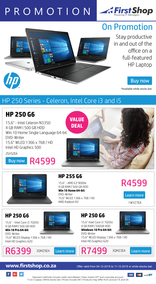 First Shop : HP Laptop (4 Dec - 11 Dec 2018)