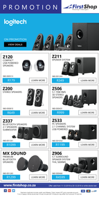 First Shop : Logitech Promo (11 Dec - 20 Dec 2018)
