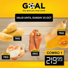 Goal Supermarket : Savings (20 October - 25 October 2020)