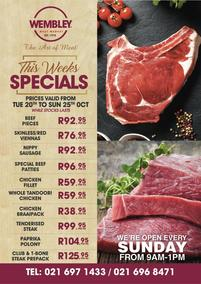 The Wembley Meat Market : This Week's Specials (20 October - 25 October 2020)