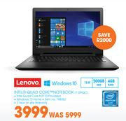 Lenovo Intel Quad Core Notebook 110PQC