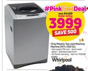 Whirlpool 13Kg Metallic Top Load Washig WTL 1300 SL