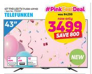 "Telefunken 43"" FHD LED TV TLEDD-43FHD"