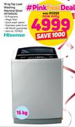 Hisense 16Kg Top Load Washing Machine