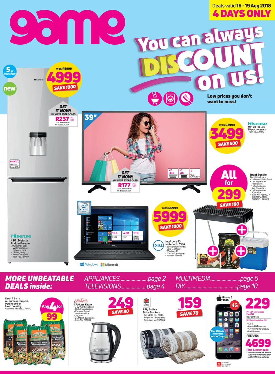 Game : You Can Always Discount On Us (16 Aug - 19 Aug 2018)