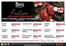 Breys Meat Market : Festive Holiday Specials (15 December - 20 December 2020)