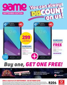 Game Vodacom : You Can Always Discount On Us (7 Sept - 6 Oct 2018)