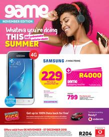 Game Vodacom : Whatever You're Doing This Summer (6 Nov - 7 Dec 2018)