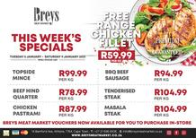 Breys Meat Market : This Week's Specials (05 January - 09 January 2021)