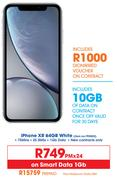 Apple iPhone XR 64GB (White)-On Smart Data 1GB