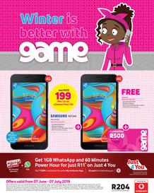Game Vodacom : Winter Is Better With Game (7 June- 7 July 2019)
