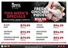 Breys Meat Market : This Week's Specials (12 January - 16 January 2021)