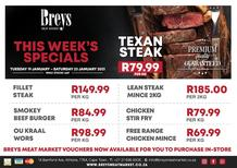 Breys Meat Market : This Week's Specials (19 January - 23 January 2021)
