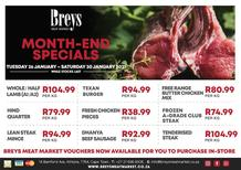 Breys Meat Market : This Week's Specials (26 January - 30 January 2021)