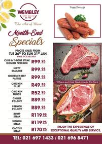The Wembley Meat Market : Month-End Specials (26 January - 31 January 2021)