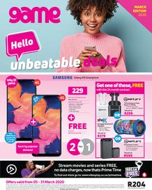 Game Vodacom : Hello Unbeatable Deals (5 March - 31 March 2020)