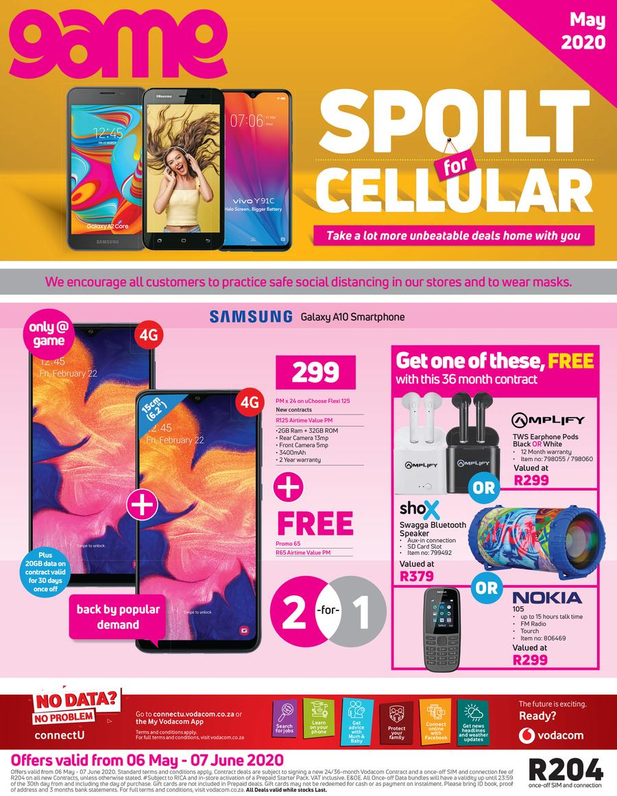 Game Vodacom Spoilt For Cellular 6 May 7 June 2020 Www Guzzle Co Za