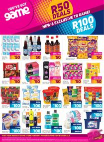 Game : R50 Deals & R100 Deals (24 September - 25 October 2020)