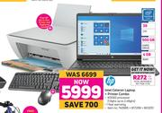 hp Intel Celeron Laptop + hp All In One Printer & Keyboard Combo