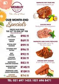 The Wembley Meat Market : Month-End Specials (23 Febraruy - 28 February 2021)