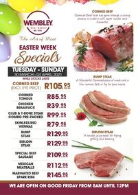 The Wembley Meat Market : Easter Week Specials (30 March - 04 April 2021)