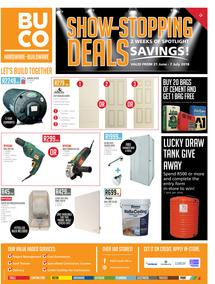 Buco Coastal Rural : Show Stopping Deals (21 June - 7 July 2018)
