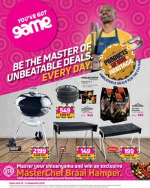 Game : Braai Day (16 September - 23 September 2020)