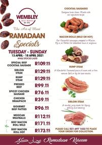 The Wembley Meat Market : Ramadaan Specials (13 April - 18 April 2021)