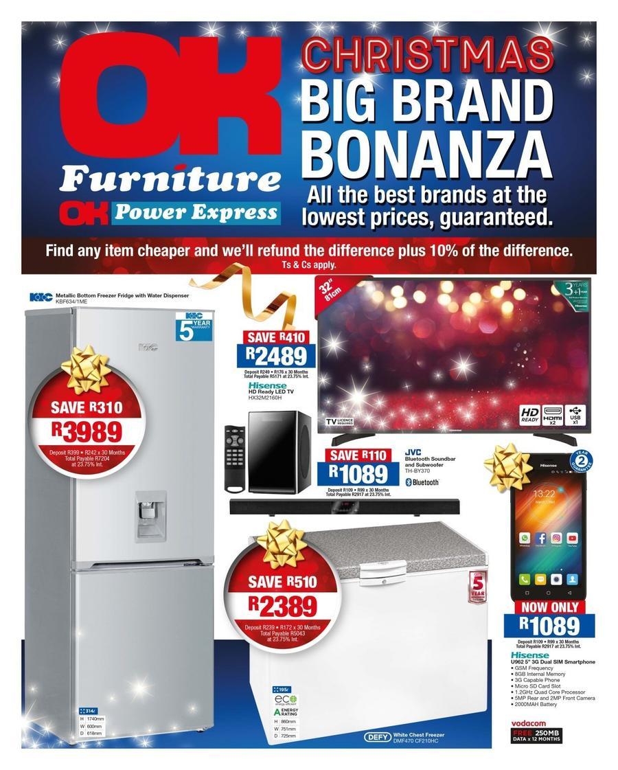 Ok Furniture Christmas Big Brand Bonanza 15 Dec 24 Dec 2017