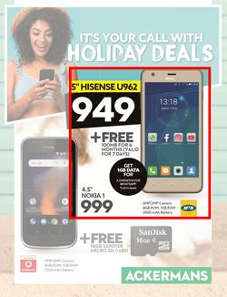 Ackermans : Its Your Call With Holiday Deals (1 Nov - 21 Nov 2018), page 1