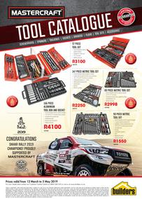 Builders : Mastercraft Tool Catalogue (12 Mar - 5 May 2019)