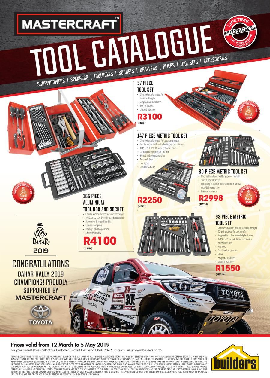 Builders Mastercraft Tool Catalogue 12 Mar 5 May 2019 M