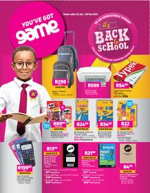 Game : Its Back To School (20 January - 28 February 2021)