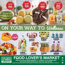 Food Lover's Market KZN : Our Way To Wellness (21 Oct - 27 Oct 2019)