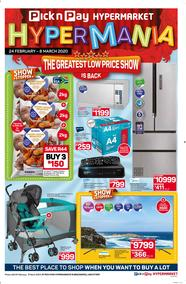 Pick n Pay Hyper Western Cape : The Greatest Low Price Show (24 February - 8 March 2020)