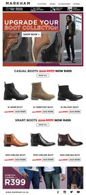 Markham : R200 off All Boots (22 June 2020 - While Stock Last)