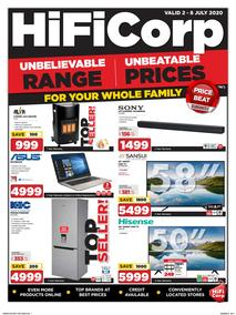 HiFi Corp : Unbeatable Prices! (02 July - 08 July 2020)