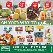 Food Lover's Market Eastern Cape : Our Way To Wellness (21 Oct - 27 Oct 2019)