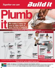 Build It Western Cape : Plumb It (23 July - 08 August 2020)