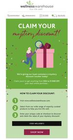 Wellness Warehouse : Could Today Be Your Lucky Day? (Request Valid Dates From Retailer)