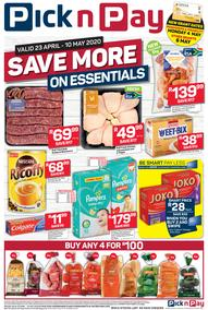 Pick n Pay Western Cape :  Save More On Essentials (23 April - 10 May 2020)