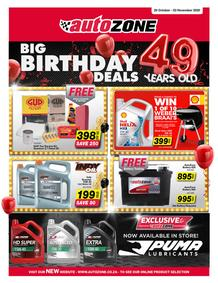 Auto Zone : Big Birthday Deals (20 October - 03 November 2020)