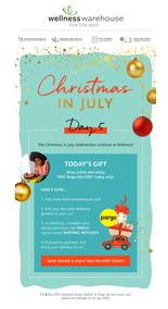 Wellness Warehouse : Your Day 5 Gift Revealed (Request Valid Dates From Retailer)