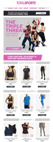 Total Sports : The Women's Triple Threat (Request Valid Dates From Retailer)