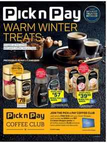 Pick n Pay : Warm Winter Treats (25 May - 7 June 2020)