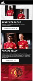 Adidas : Get The New Manchester United Home Jersey (Request Valid Dates From Retailer)