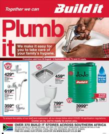 Build It Western Cape : Plumb It (26 August - 05 September 2020)