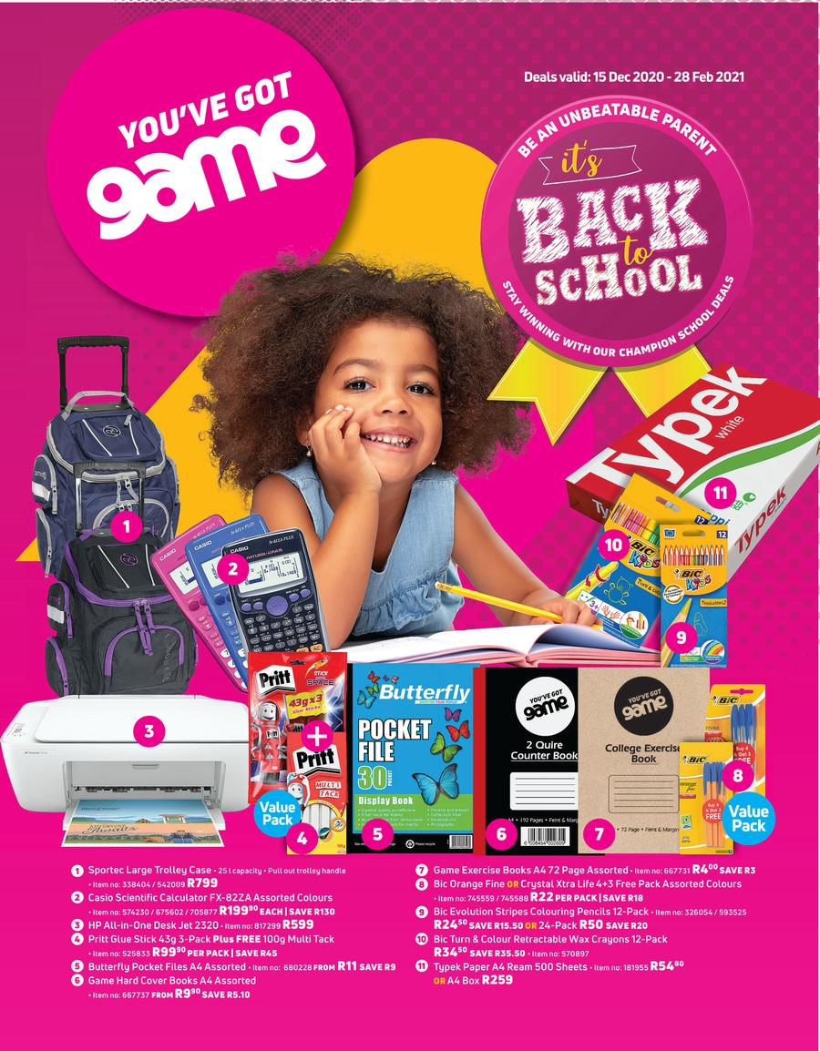 Game : It's Back To School (15 December 2020 - 28 February 2021)