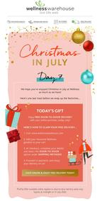 Wellness Warehouse : Your Last Christmas in July Gift From Us! (31 July 2020 Only While Stocks Last)